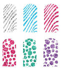 Nail Art Glitter Transfers Tattoos Brush On - Stripes or Spots - NEW GIFTS
