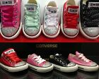 Infants Girls Converse CT All Star Ox Customised Crystal Diamante Size UK 2 - 10
