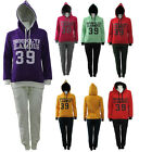 Womens Ladies Girl Hooded Hoody Jogger Tracksuit  Jacket Top Bottom Pant Size UK