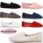 Espadrilles Classic Pumps Canvas Plimsolls Trainers Flat  Slip on Shoes Size