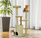 Multi- Level Cat Scratcher Tree Condo Kitten House Post Bed Toys Cat Furniture
