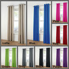 8 Colors - PAIR of Sunout Eyelet Curtains 120cm x 221cm RED BLUE LATTE GREEN