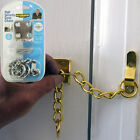 MAX6MUM SECURITY 3 Piece Narrow Door Chain in Brass, Chrome and Satin Silver