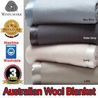 Machine Washable - 400gsm AUSTRALIAN WOOL BLANKET - Single Double , Queen King