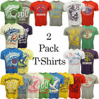 Mens T Shirts South Shore Crew Neck T-Shirts 2 Pack Multipack Tops New S M L XL