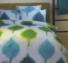 Green Aqua White MAPLE Quilt Cover Set SINGLE DOUBLE QUEEN KING
