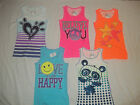 NEW JUSTICE SIZE 7 8 10 12 14 16 18 20 TANK TOP W/GLITTER IN FIVE STYLES/COLORS