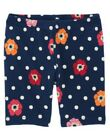 GYMBOREE BLOOMING NAUTICAL NAVY DOT N POPPY BIKE SHORTS 3 4 5 6 7 8 9 12 NWT