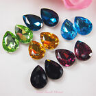 5pcs 13x18mm Coloured Beveled Glass Rhinestones Centrepiece Crystal Decoration