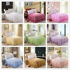 King/Queen Size Pleated Valance/ Solid Bed Skirt 100% Cotton 9 Different Colours