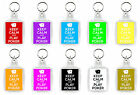 KEEP CALM AND PLAY POKER - 10 COLOURS KEYRING CHAIN FOB *FREE POSTAGE* BRAND NEW