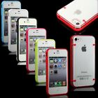 Ultra-thin Clear/Transparent Bumper Case Skin PC Frame For iPhone 4 4G 4S