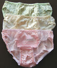 KIDS  S M  L  6 7 8 10 __ 3 Girl's 100% SILK  Panties Briefs   Waist  21 to 26""