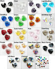 20Pcs Heart Faceted Glass Crystal Rondelle Beads Charms Pendants 10mm K075