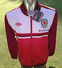 BNWT Official Umbro Wales Jacket- Training/ Pre Match - Red / White- Gareth Bale