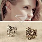 1PC Unisex Antique Silver Brass Alloy Punk Earrings Ear Cuff no-Piercing Dia.1cm