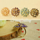 Women Lady Girl Multi Four Petals Small Flowers Flower Rings Cluster Fashion