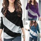 CASUAL COTTON BATWING LONG SLEEVE JERSEY TOP BLOUSE T-SHIRT T093