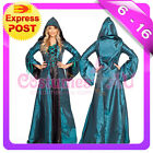 Ladies Vintage Halloween Renaissance Medieval Devil Queen Fancy Dress Costume