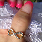 Thumb Rings Crystal Gold Heart Infinity Cross Bow Midi Rings Celebrity Trend