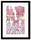 Cream - SUNSHINE OF YOUR LOVE - song lyric poster typography art print - 4 sizes