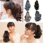 Woman's 35cm Claw Curly Ponytail Clip in Layered Hair Extension Piece Wigs KP42