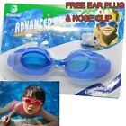 Lightweight Foldable Swim Goggles Including Ear Plugs & Nose Clip 5 Colors Child