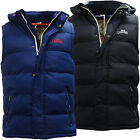 Mens Gilet Tokyo Laundry Body Warmer Sleeveless Coat Jacket Padded Hooded New