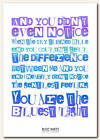 BLOC PARTY - Blue Light - song lyric poster typography art print - 4 sizes