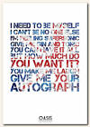 OASIS - Supersonic - song lyric poster typography art print  in 4 sizes XXL