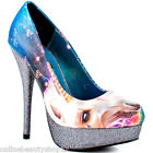 WOMENS IRON FIST UNICORNOPIA UNICORN GLITTER PLATFORM HEEL SHOES DARK NAVY