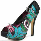 WOMENS IRON FIST FRAKATTACK  FRANKENSTEIN PLATFORM HIGH HEEL SHOES BLUE