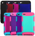 TUFF Hard Hybrid Snap On Impact Armor Case Cover for iPod Touch 4th Gen Black