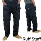 Mens Professional Work Cargo Combat Tough Trousers | Multi Pockets
