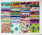"100 Assorted pre cut charm pack 5"" squares 100% cotton fabric quilt"