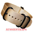 PREMIUM ZULU PVD 5 Ring TAN SAND 20mm,22mm,24mm Military Divers watch strap band
