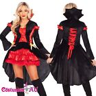 Ladies Vampire Devil Princess Countess Halloween Fancy Dress Costume Party Dress