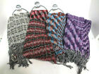 Ladies soft weave effect print scarves in a choice of four colours.