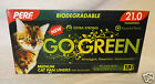 PERF GO GREEN,BIODEGRADABLE MED CAT PAN LINERS W/ TIES, 15 CT OR 60 CT, NEW
