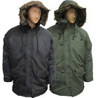 SNORKEL PARKA FAUX FUR TRIM MENS HOODED HOODY JACKET COAT UK SIZE S M L XL XXL