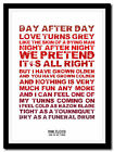 PINK FLOYD - One Of My Turns ❤song lyric poster in 4 sizes❤ typography art print