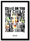 PINK FLOYD - Shine On You Crazy Diamond poster ❤ typography art print - 4 sizes