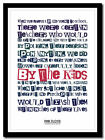 PINK FLOYD - The Happiest Days Of Our Lives  ❤ typography art poster print