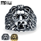 Quality TTstyle 316L Stainless Steel 3D Lion Ring