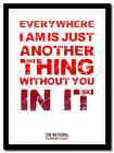 THE NATIONAL - Fashion Coat ❤ song lyric poster typography art print - 4 sizes