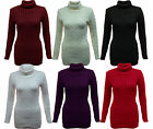 Womens Cable Knit Polo Neck Long Jumper - A16