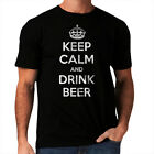 Funny New Men T-Shirt Keep Calm And Drink Beer Pub Women Party All Sizes *h131