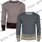 Mens Xmas Aztec Diamond Knitted Long Sleeves Sweater Pullover New Jumper Top