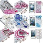 3D Premium Diamond Bling Rhinestone Pearl Hard Case Cover - iPod Touch 5th Gen