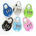 3-Digit Mini code Metal Combination Travel Luggage Lock Padlock password s673